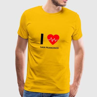 I Love San Francisco - Ich liebe San Francisco - Männer Premium T-Shirt