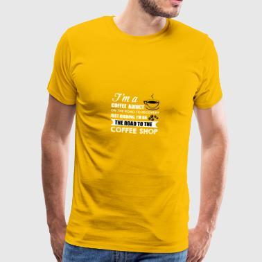 kaffe beroende - Premium-T-shirt herr