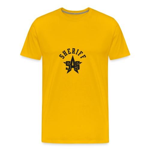 sas sheriff logo los print orig - Mannen Premium T-shirt
