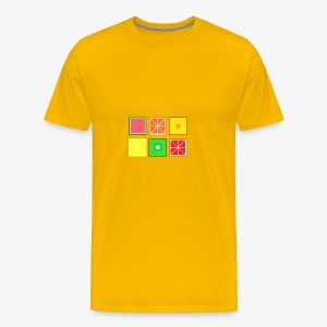 DIGITAL FRUITS - Pixel Frucht - Männer Premium T-Shirt