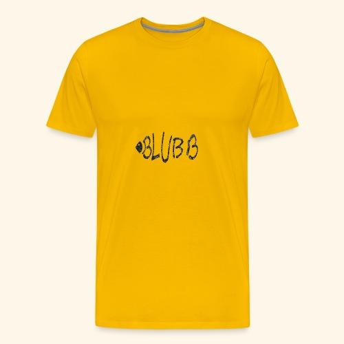 Fisch Shirt Blubb - Männer Premium T-Shirt