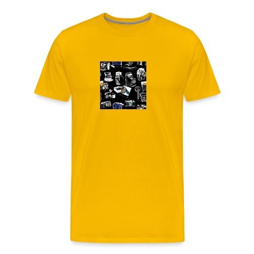 Vintage Kameraer - Premium T-skjorte for menn