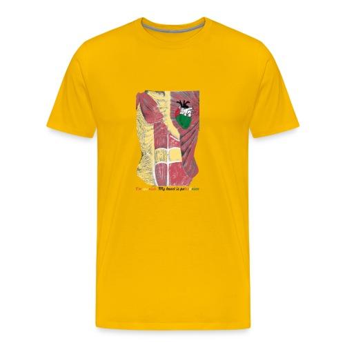 CamisetaMy heart is palestinian versión española - Camiseta premium hombre