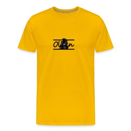 OlZen Grå Hettegenser - Premium T-skjorte for menn