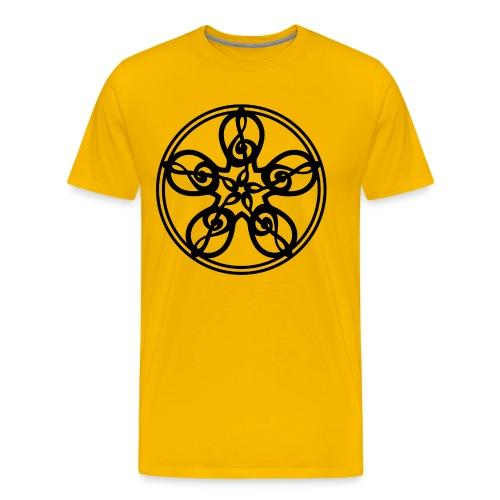 CELTIC CLEF MANDALA (black) - Men's Premium T-Shirt