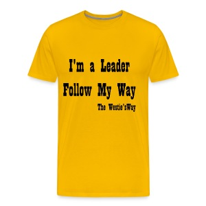 Follow My Way Black - Koszulka męska Premium