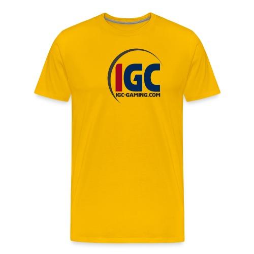 IGC Logo mit Website - Männer Premium T-Shirt