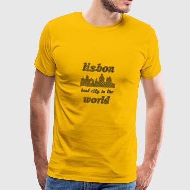 LISBON Najlepsze miasto na świecie - Koszulka męska Premium