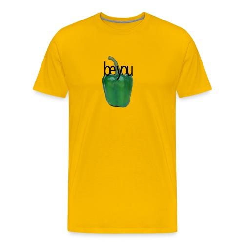 Pimiento verde/ green pepper. Be you - Camiseta premium hombre