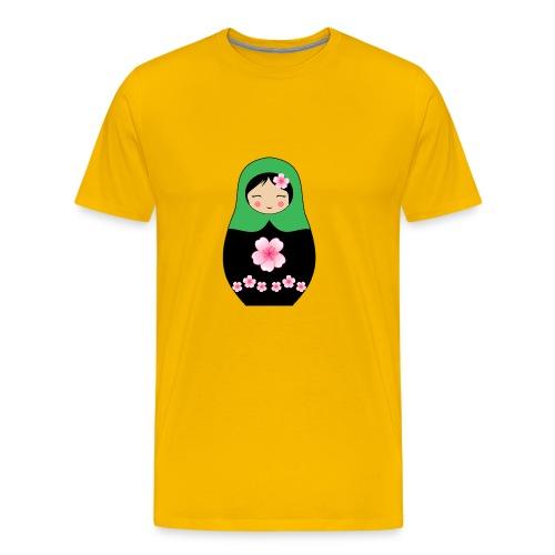 Matroschka Puppe grün - Männer Premium T-Shirt