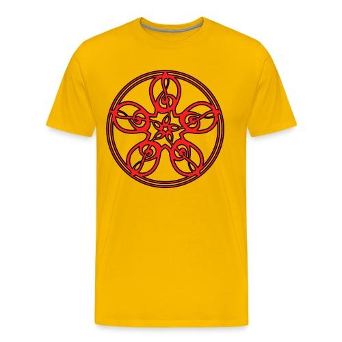 CELTIC CLEF MANDALA (red/black outline) - Men's Premium T-Shirt