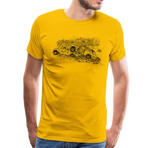 folkrace med Bettan - Premium-T-shirt herr