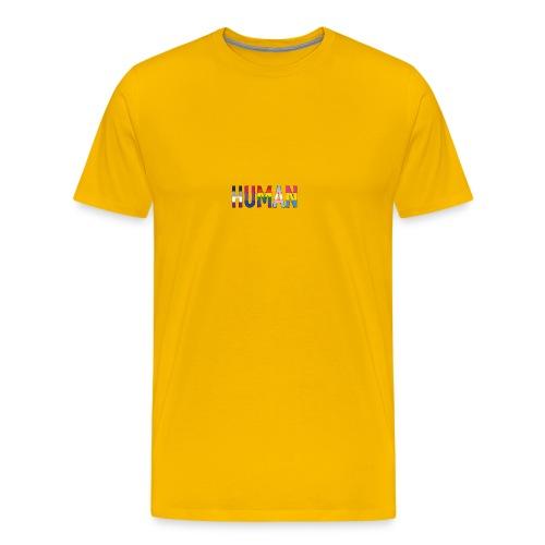 HUMAN - Rainbow - Männer Premium T-Shirt
