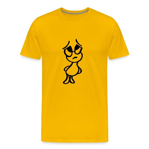 kleiner Mann nachdenklich - Männer Premium T-Shirt