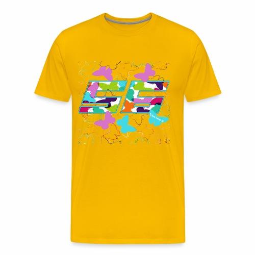 Dorsal mariposas de colores - Camiseta premium hombre