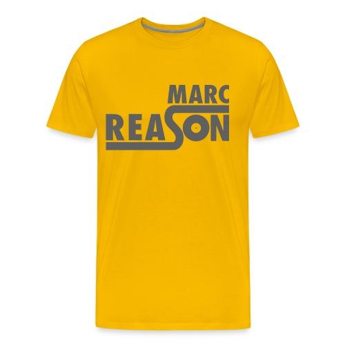 Marc Reason logo klein Grau - Männer Premium T-Shirt