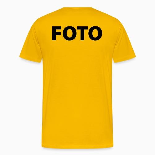 FOTO (Svart tryck) - Premium-T-shirt herr