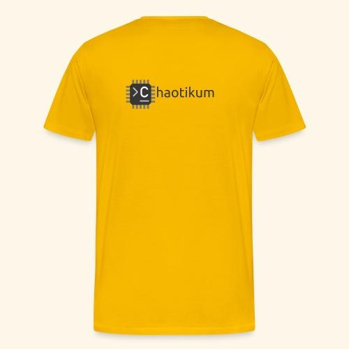 Chaotikum Logo mit Schriftzug - Männer Premium T-Shirt