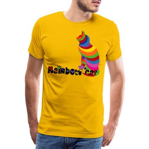 Rainbow Cat, Regenbogen Katze, Miau, silhouette - Männer Premium T-Shirt