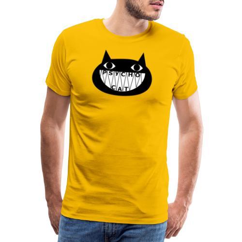 Niedlicher aber psycho Cat cooler Schriftart - Männer Premium T-Shirt