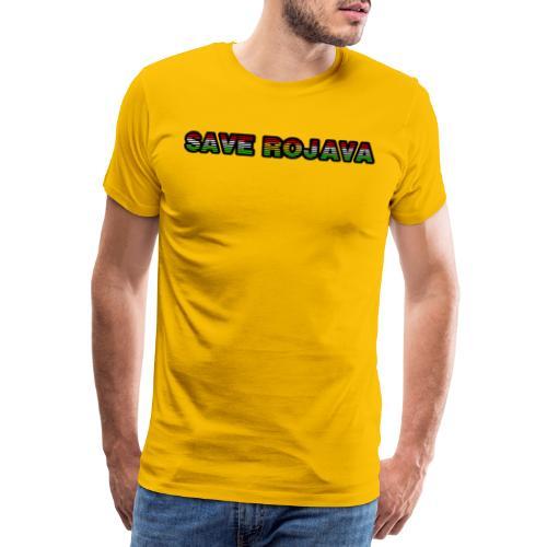 Save Rojava Kurdische Flagge - Männer Premium T-Shirt