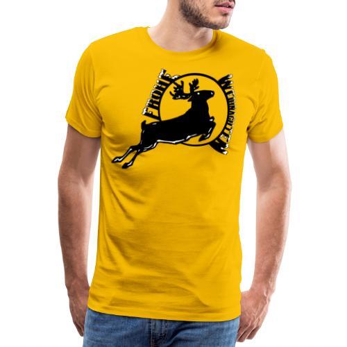 Weihnachten, Frohe Weihnachten Reh, Hirsch Wald - Männer Premium T-Shirt