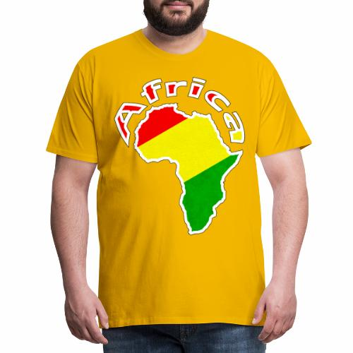 Afrika - rot gold grün - Männer Premium T-Shirt