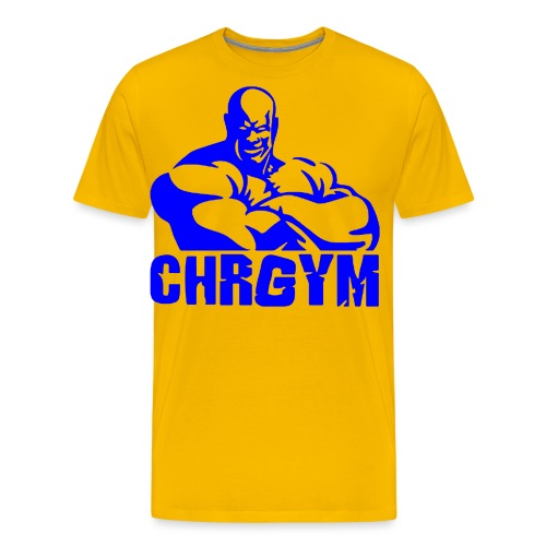 CHRGYM AZUL - Camiseta premium hombre