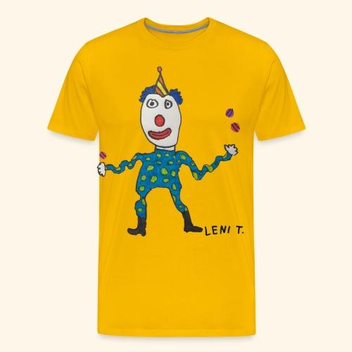 LeniT Clown - Miesten premium t-paita