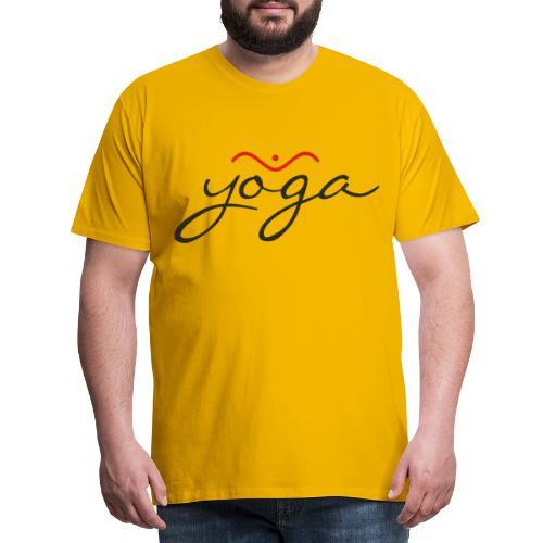 Yoga Balancing Typography And Emblem 1 - Männer Premium T-Shirt