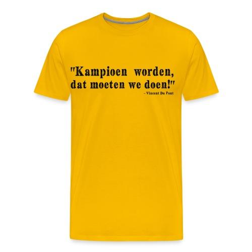 Vincent Du Pont Black - Mannen Premium T-shirt