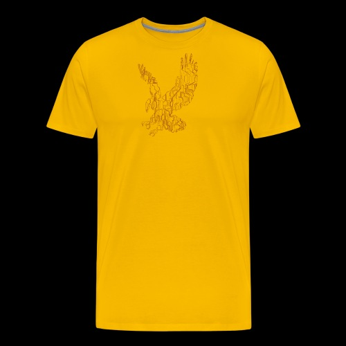 Eagle circuit - Herre premium T-shirt