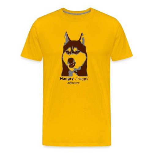 Hangry - Grumpy Dog - Husky Dog - Männer Premium T-Shirt