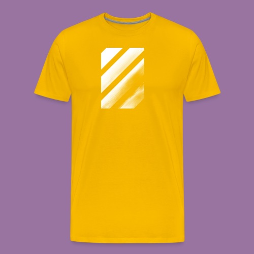 Stripes Diagonal White - Maglietta Premium da uomo