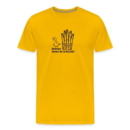 Reilinger heww die Gräischde! - Männer Premium T-Shirt