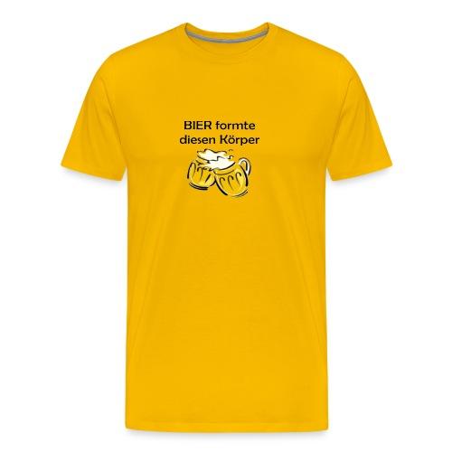 Bier formte diesen Körper - Männer Premium T-Shirt