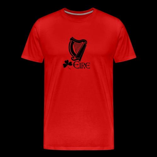 Irish Harp and Shamrock - Men's Premium T-Shirt