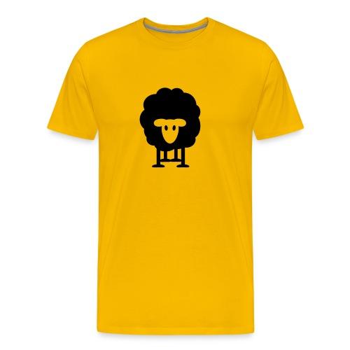 dickes Schaf schwarzes Schaf Herde Schäfer knuffig - Men's Premium T-Shirt