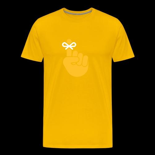 Finger with Bow Remember - Men's Premium T-Shirt