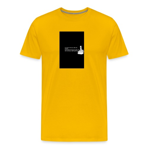 du kender mig ikke - Herre premium T-shirt