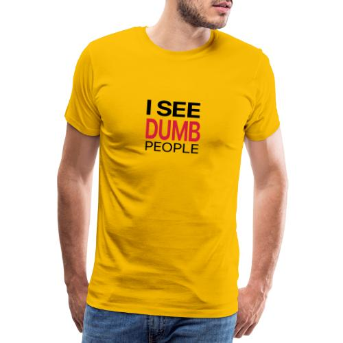 dumbpeople white - Men's Premium T-Shirt