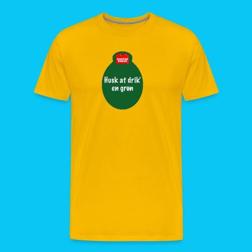 Grøn - Herre premium T-shirt