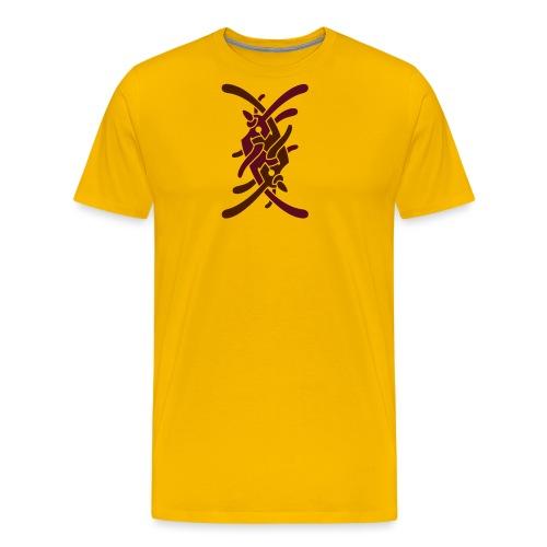 Stort logo på ryg - Herre premium T-shirt