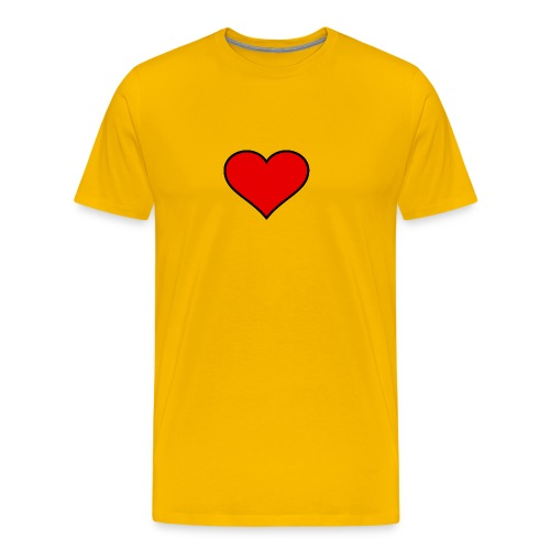 big heart clipart 3 - Premium-T-shirt herr