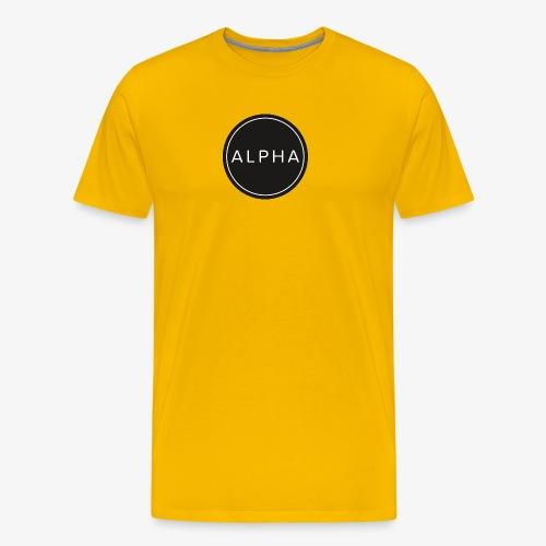 alpha logo - Männer Premium T-Shirt