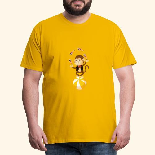 Lustiger Affe auf einem rollenden Ball - Männer Premium T-Shirt