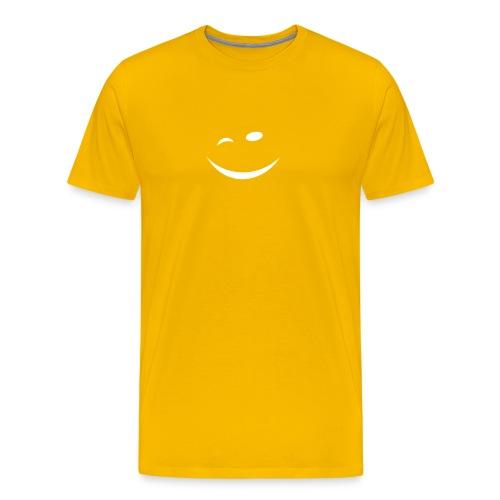 Zwinkersmiley - Männer Premium T-Shirt
