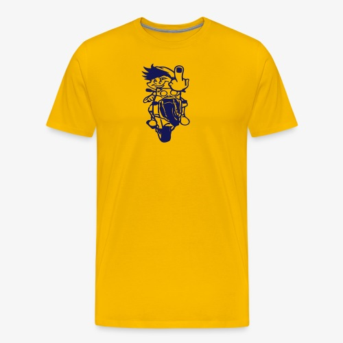 Wheelie Stinkefinger - Männer Premium T-Shirt