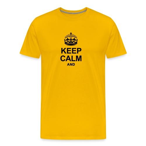 Keep Calm and Edit Text! - Men's Premium T-Shirt