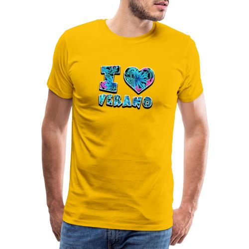 I Love Verano - Camiseta premium hombre
